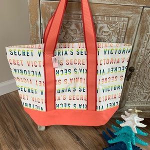 Victoria's Secret canvas tote, new with tags